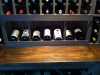 See this wine cellar construction project West Palm Beach Florida wooden custom wine racks wine closet conversion