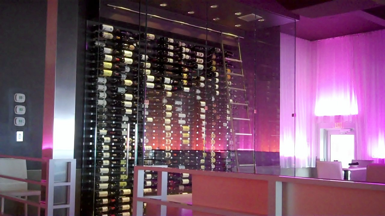 wine cellar lighting. Commercial-wine-room-fort-lauderdale-spazios-restaurant-ladder Wine Cellar Lighting