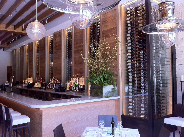 Commercial Wine Cellars Milos Wine Display Miami Florida